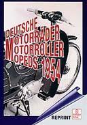 Buchcover: DEUTSCHE MOTORRÄDER, MOTORROLLER, MOPEDS 1954